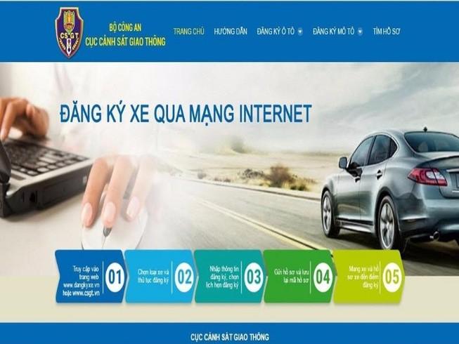 Thí điểm đăng ký xe trực tuyến tại Hà Nội và TP.HCM