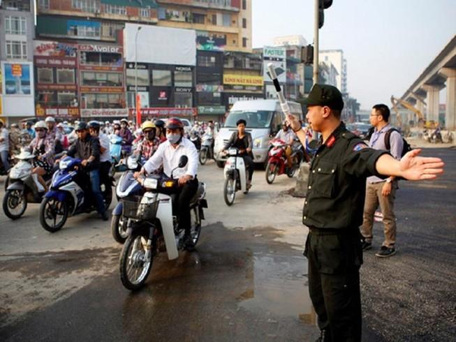 Hà Nội tăng cường 200 cảnh sát cơ động dịp tết