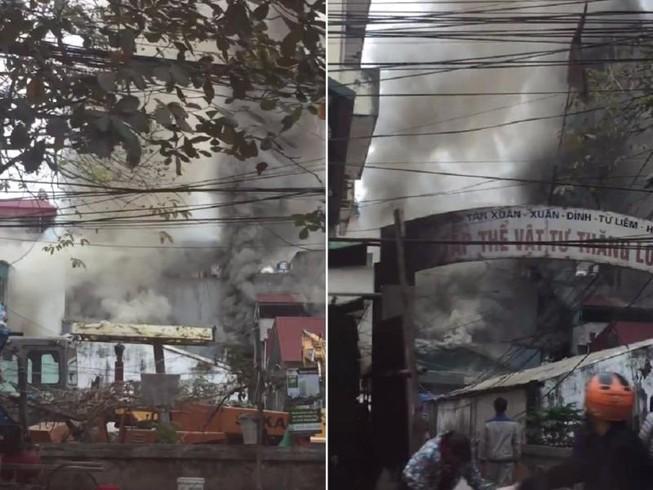 Cận tết, 'bà hỏa' thiêu rụi một căn nhà tại Hà Nội