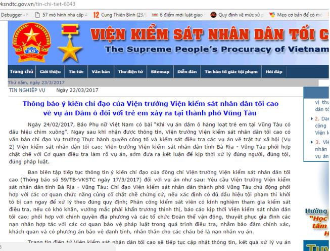 Thông tin mới vụ dâm ô trẻ em ở Vũng Tàu