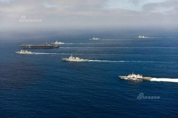 Hải quân Mỹ dàn trận trên Thái Bình Dương