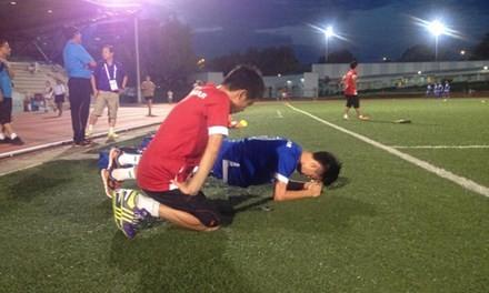 U23 Việt Nam thiếu quân trong buổi tập đầu tiên ở Singapore