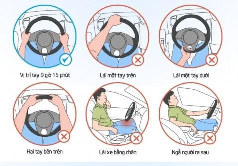 Bạn đã biết cầm vô lăng khi lái xe?