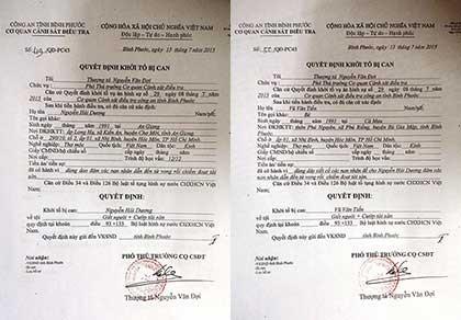Thảm sát Bình Phước: VKS đã phê chuẩn quyết định khởi tố 2nghi can