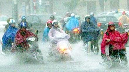 Không khí lạnh tràn về khiến Bắc Trung Bộ mưa to