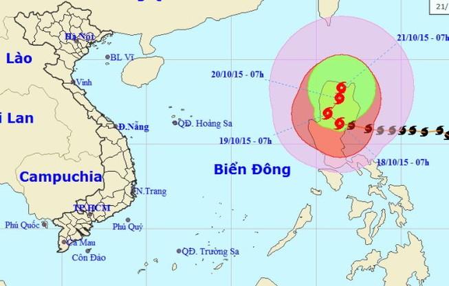 Siêu bão Koppu giật trên cấp 16-17 trên khu vực đảo Lu Dông