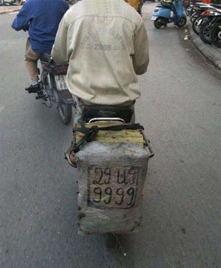 Mức phạt về biển số xe cho xe máy, ô tô vi phạm