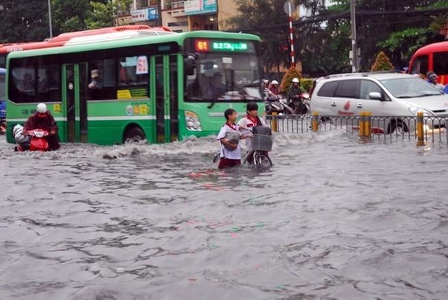 Tiếp tục đề phòng ngập lụt đô thị tại thành phố Hồ Chí Minh