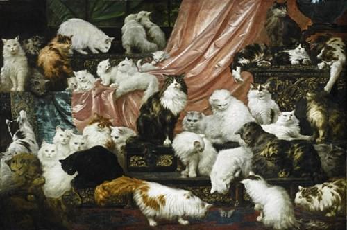 Choáng với bức tranh 'gia đình mèo quý tộc' giá gần 19 tỉ đồng