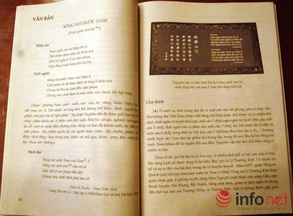 Phụ huynh sốc với bản dịch mới của bài thơ Sông núi nước Nam trong SGK lớp 7