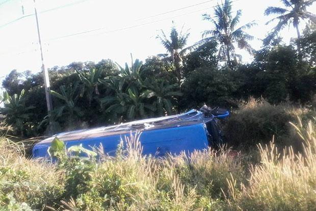 Năm người Việt bị thương trong vụ lật xe du lịch ở Thái Lan