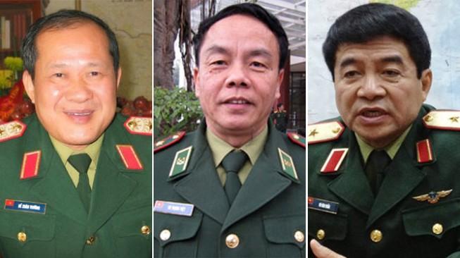Thăng quân hàm thượng tướng cho 3 sĩ quan quân đội