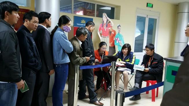 Nhiều chuyến bay từ sân bay Thanh Hóa liên tục hoãn chuyến