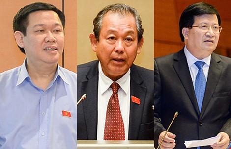 Quốc hội thông qua danh sách đề cử 3 phó thủ tướng, 18 bộ trưởng