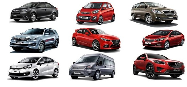 Bảng giá xe Kia, Ford, Chevrolet, Mazda, Honda, Hyundai, Toyota tháng 5-2016