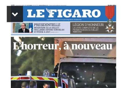 Báo chí Pháp chia sẻ về vụ khủng bố