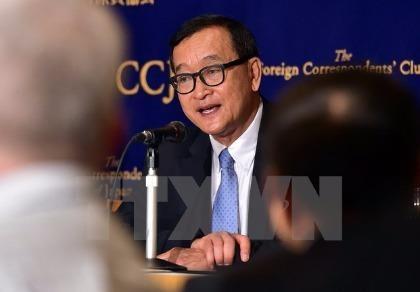 Thủ lĩnh đối lập Sam Rainsy bị tòa Campuchia kết tội phỉ báng