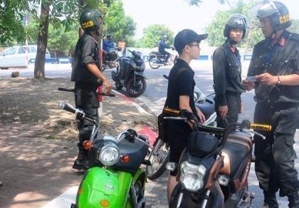 Thẩm quyền xử phạt giao thông của cảnh sát cơ động