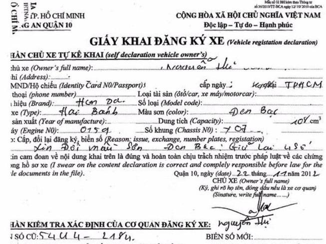 Thẩm quyền đăng ký xe thuộc các cơ quan nào?