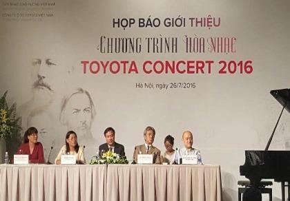 Chương trình hòa nhạc Toyota 2016: Đưa âm nhạc Nga đến Việt Nam
