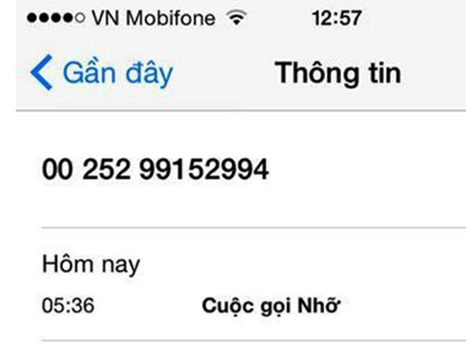 Cảnh báo cuộc gọi lạ quốc tế ăn cắp cước viễn thông