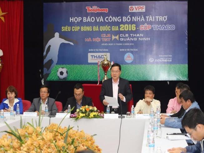 Siêu cúp bóng đá quốc gia tăng giá trị tiền thưởng
