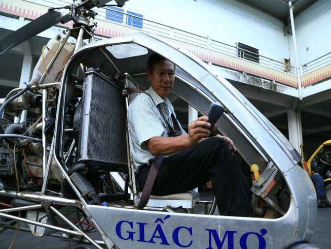 Khảo sát trực thăng tự chế mang tên Bùi Hiển