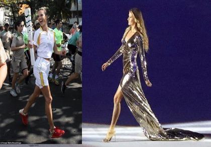 Hai thiên thần nội y tỏa sáng tại lễ khai mạc Olympic Rio 2016