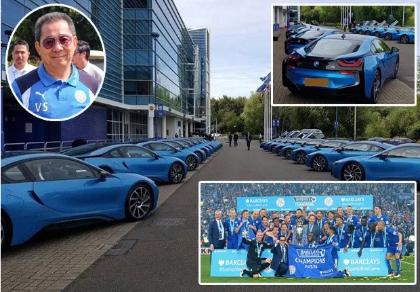 Tỉ phú Thái chi 2 triệu bảng thưởng siêu xe cho toàn đội Leicester