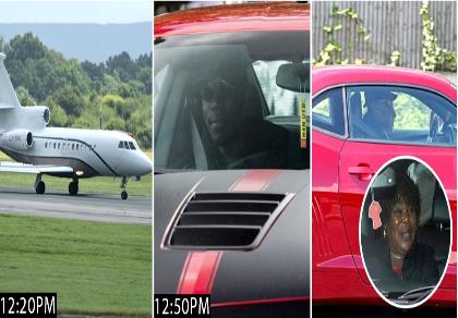 Paul Pogba mang theo mẹ đến Manchester bằng máy bay riêng
