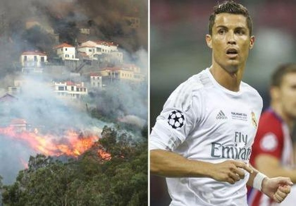 Cristiano Ronaldo dang tay cứu trợ đám cháy quê nhà