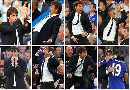 Antonio Conte và những cung bậc cảm xúc trong trận thắng West Ham