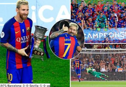 Đè bẹp Sevilla, Barcelona đoạt siêu cúp Nhà vua