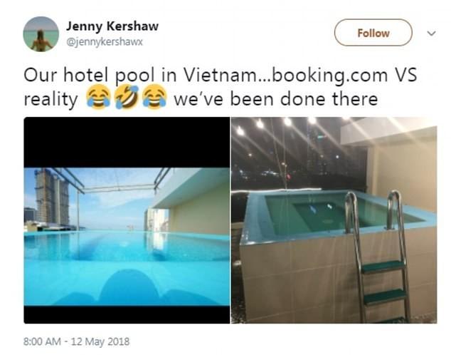 Du khách 'té ngửa' với mánh quảng cáo hồ bơi khách sạn  - ảnh 1