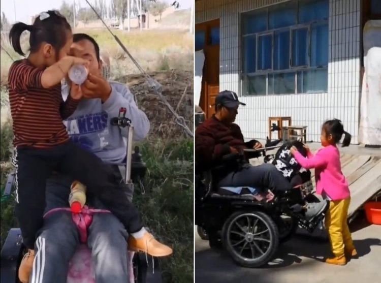 Câu chuyện cảm động về cô bé 6 tuổi chăm cha tật nguyền - ảnh 3