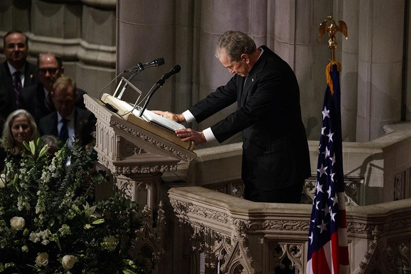 Những điểm nhấn tại đám tang cựu Tổng thống George H.W. Bush  - ảnh 4