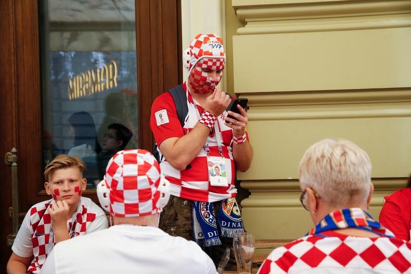 CĐV Anh và Croatia tưng bừng mở hội ở Moscow - ảnh 13