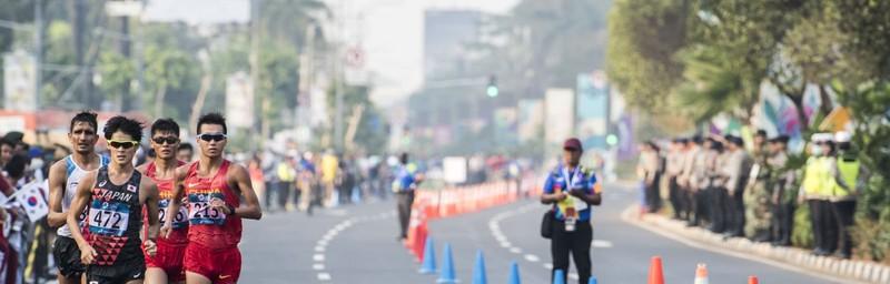 Nhật Bản giành vàng đi bộ 50km - ảnh 1