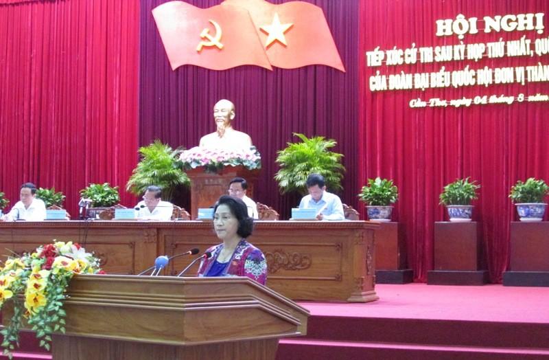 Bà Nguyễn Thị Kim Ngân tiếp xúc cử tri: Nóng chuyện ông Trịnh Xuân Thanh - ảnh 3