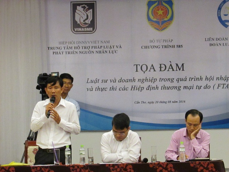 LS Trần Minh Trị cho rằng luật sư TP Cần Thơ hội nhập chưa bao nhiêu và còn nhiều khó khăn. Ảnh: N.NAM