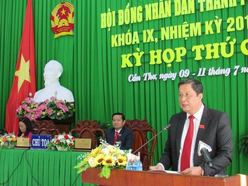 Chủ tịch HĐND TP Cần Thơ đề nghị quản lý chặt ngân sách - ảnh 1