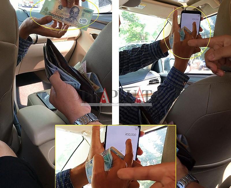 Tài xế taxi dù thừa nhận tráo tờ 500.000 đồng của khách - ảnh 1