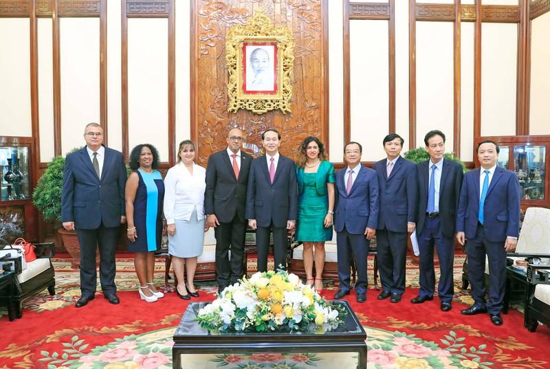 Chủ tịch nước Trần Đại Quang tiếp đại sứ Cuba sáng 28-8 - ảnh 4