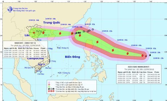 Siêu bão Mangkhut mạnh cấp 17, khả năng xảy ra bão kép - ảnh 1
