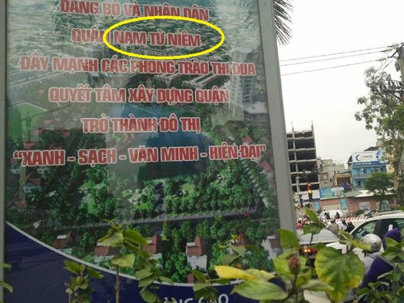 Hà Nội: Khẩu hiệu viết sai tên quận thành 'Nam Từ Niêm' - ảnh 3