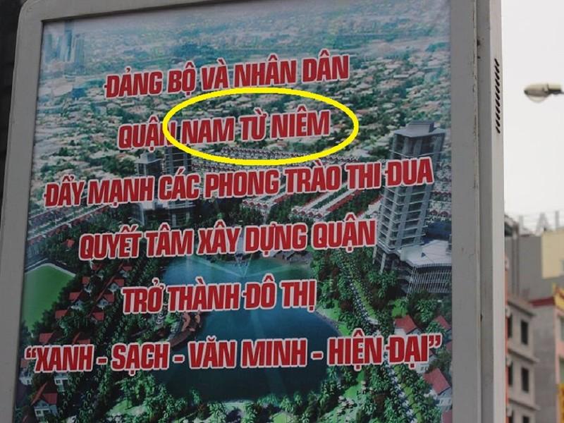 Hà Nội: Khẩu hiệu viết sai tên quận thành 'Nam Từ Niêm' - ảnh 1