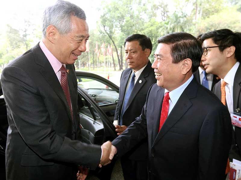 Lãnh đạo TP.HCM hội kiến thủ tướng Singapore - ảnh 1
