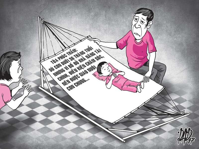 Giành quyền nuôi con, phải vì đứa trẻ - ảnh 1