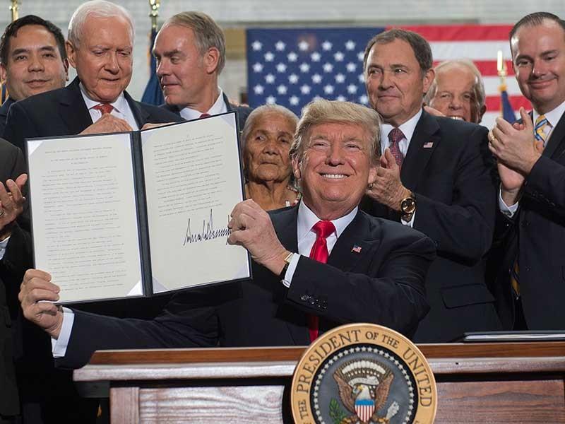 Ông Trump liên tiếp 'ghi điểm' cuối năm - ảnh 1