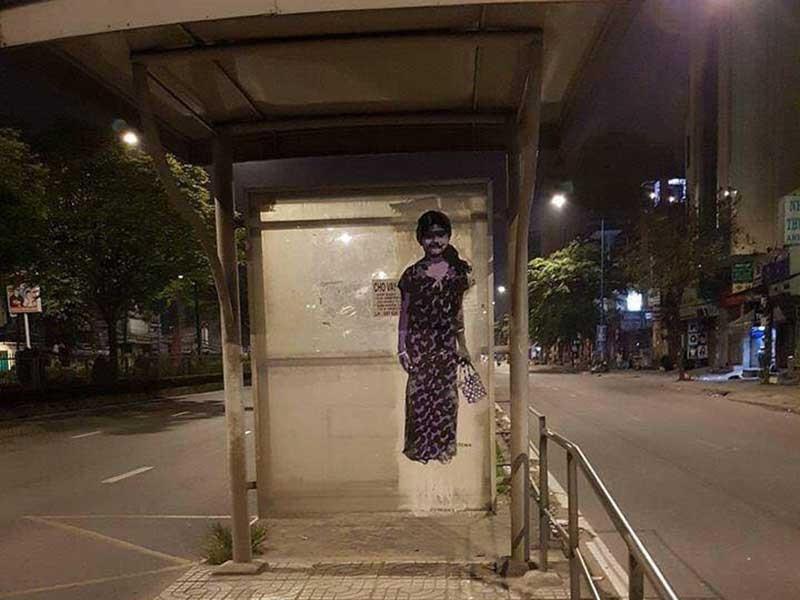 Nhà chờ xe buýt kiểu 'nhát ma' - ảnh 1